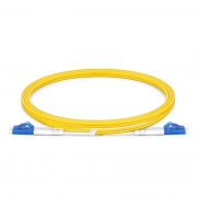 LC to LC UPC Duplex OS2 2.0mm PVC Fiber Patch Cable, 1m